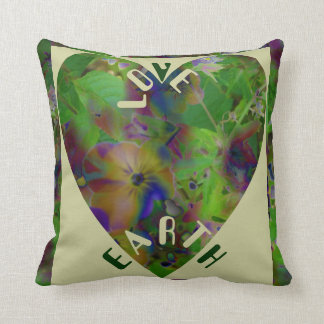 Play In Paint LOVE EARTH Throw Pillow