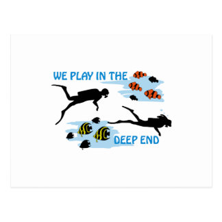 Play In The Deep End Postcard