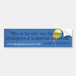 play intelligence - Customized - Customized Car Bumper Sticker