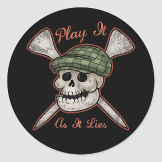 Play It As It Lies Classic Round Sticker
