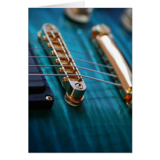 Play It - Guitar in Blue Greeting Card