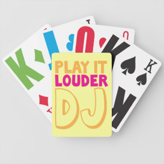 PLAY it LOUDER DJ! Bicycle Playing Cards