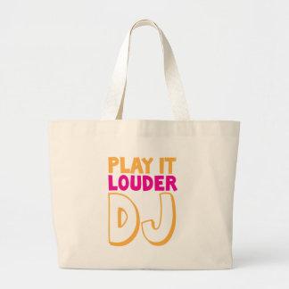 PLAY it LOUDER DJ! Large Tote Bag