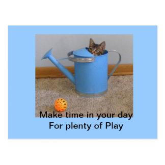 Play kitty Postcard