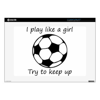 """play like a girl3 skin for 15"""" laptop"""