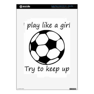 play like a girl3 skin for iPad 3