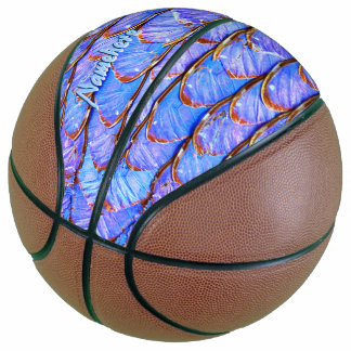 Play like a Girl! Personalized Butterfly Wings Basketball
