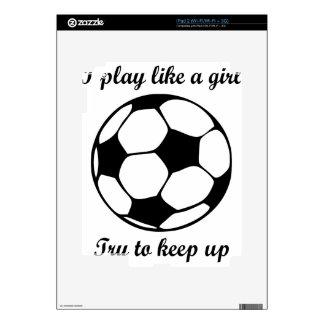 play like a girl skin for iPad 2