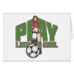 Play Like a Girl Soccer Card