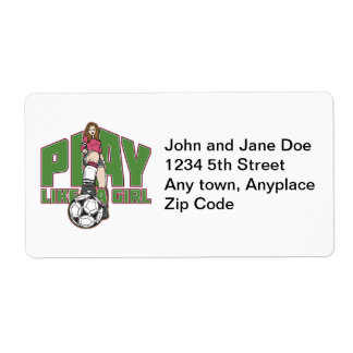 Play Like a Girl Soccer Label