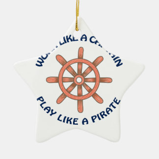 Play Like A Pirate Ceramic Ornament