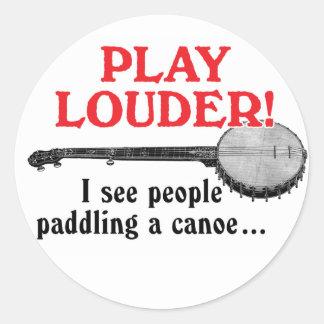 Play Louder Sticker