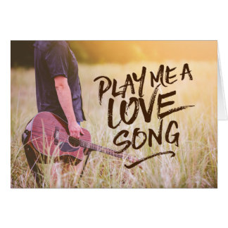 Play Me A Love Song Typography Photo Template