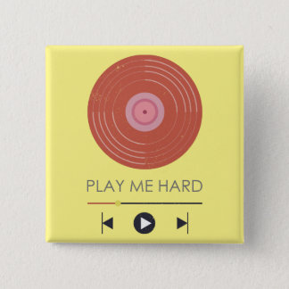 Play me hard - mobile music play funny mockup pinback button