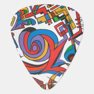 Play Me Some Jazz-Abstract Art Geometric Guitar Pick