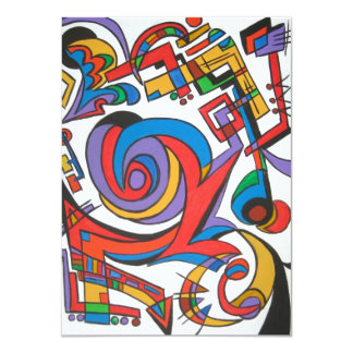 Play Me Some Jazz - Abstract Art 4.5x6.25 Paper Invitation Card
