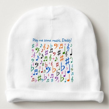 Toddler & Baby themed Play me some music, Daddy! Baby Beanie
