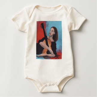 Play Me (The Girl with the Guitar) Baby Bodysuit