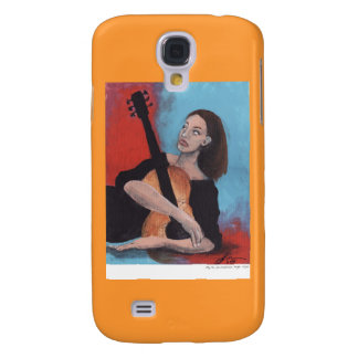 Play Me (The Girl with the Guitar) Galaxy S4 Case