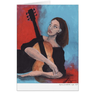 Play Me (The Girl with the Guitar) Greeting Card