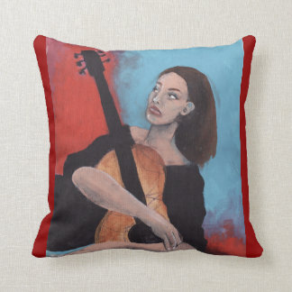Play Me (The Girl with the Guitar) Pillows