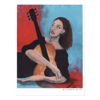Play Me (The Girl with the Guitar) Postcard