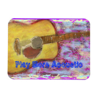 Play More Acoustic Guitar Magnet