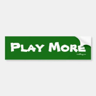 PLAY More Bumper Sticker