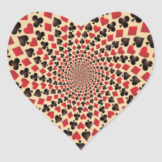 Play More Cards Day - Appreciation Day Heart Sticker