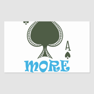 Play More Cards Day - Appreciation Day Rectangular Sticker