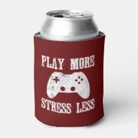 Play More Stress Less Video Game Can Cooler