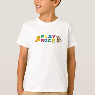 PLAY NICE from Happy Kids Customizable Design T-Shirt