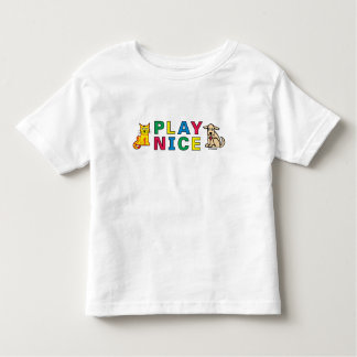 PLAY NICE from Happy Kids Customizable Design Toddler T-shirt