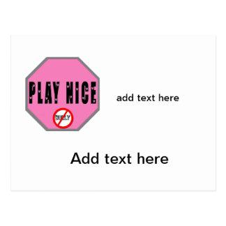 Play Nice - Pink Shirt Day Postcard