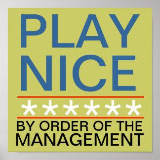 Play Nice Poster