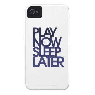 Play now sleep later iPhone 4 cover