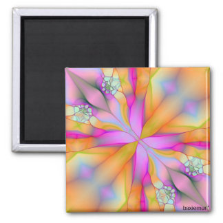 Play On Fractal 2 2 Inch Square Magnet