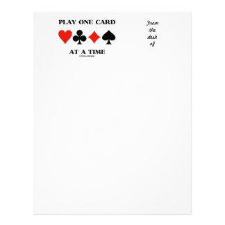 Play One Card At A Time (Four Card Suits)