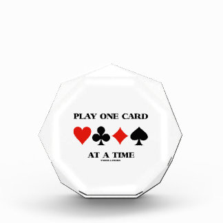 Play One Card At A Time (Four Card Suits) Award