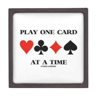 Play One Card At A Time (Four Card Suits) Gift Box