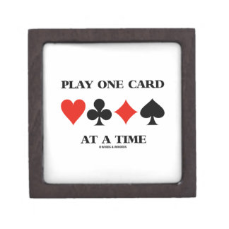 Play One Card At A Time (Four Card Suits) Jewelry Box