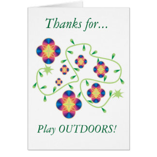 Play Outdoors Products - for Health & Fun Card