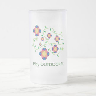 Play Outdoors Products - for Health & Fun Frosted Glass Beer Mug