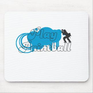 Play Paintball Basic Logo Mouse Pad