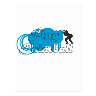 Play Paintball Basic Logo Postcard