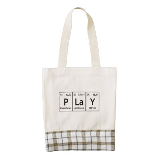PLaY Periodic Table Elements Word Chemistry Symbol Zazzle HEART Tote Bag
