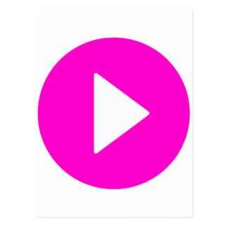 Play - pink icon postcard