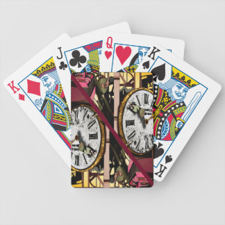 """play poker """"clock """" bicycle playing cards"""