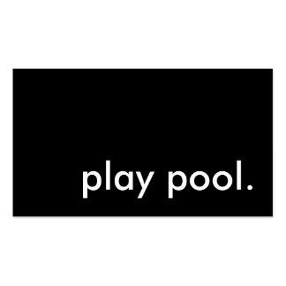 play pool. business cards