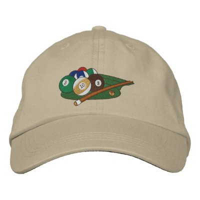 Play Pool Embroidered Hats